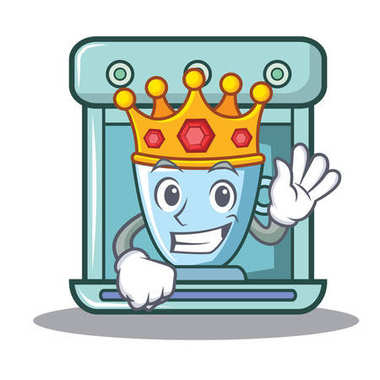 King coffee maker character cartoon