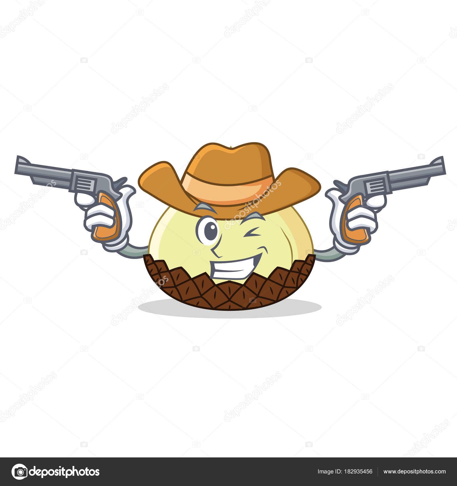785479dc7ae Cowboy snake fruit character cartoon — Stock Vector © kongvector ...