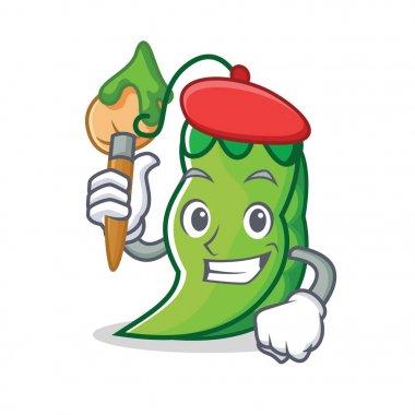 Artist peas character cartoon style