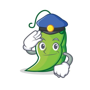 Police peas character cartoon style