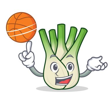 With basketball fennel character cartoon style