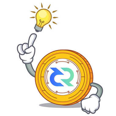 Have an idea Decred coin mascot cartoon