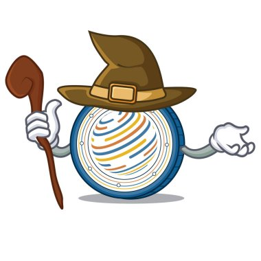 Witch Factom coin mascot cartoon