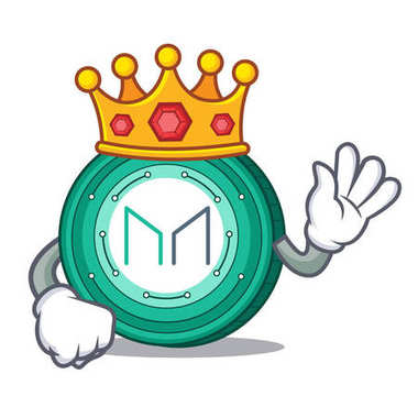 King Maker coin mascot cartoon