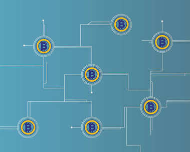 Bitcoin gold cryptocurrency circuit technology background