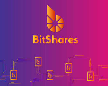 BitShares cryptocurrency style colorful background