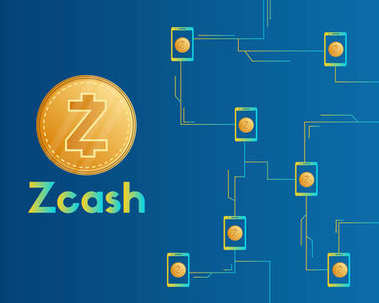 Cryptocurrency zcash technology style background