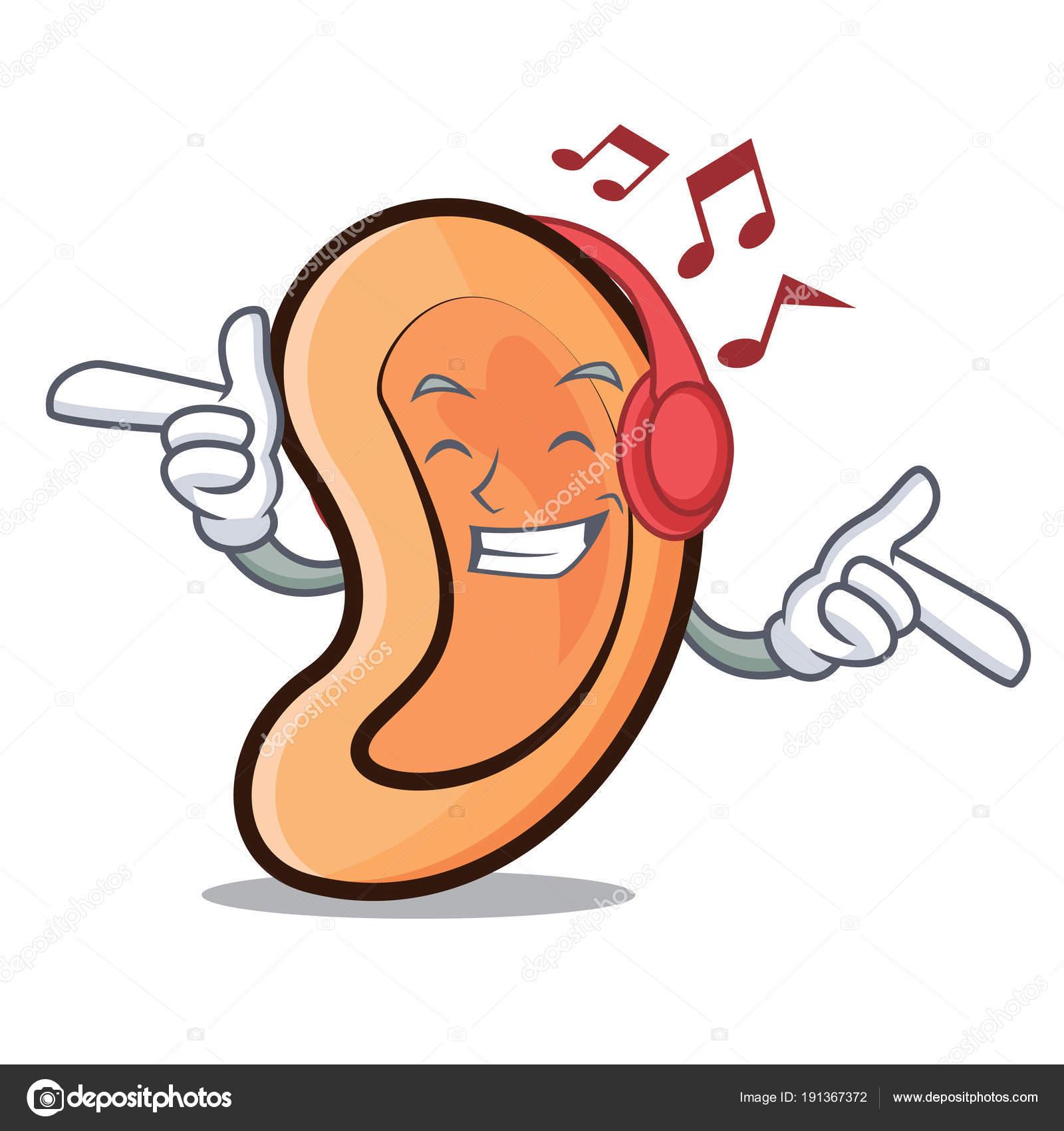 Dibujos Del Sentido Del Oido Escuchar Música De Estilo De Dibujos