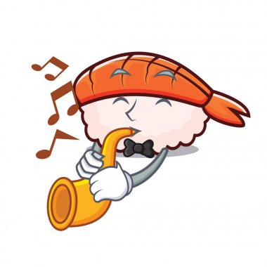 Trumpet ebi sushi mascot cartoon