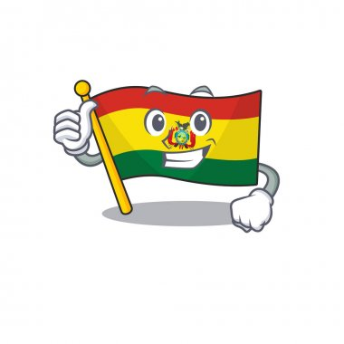 Cartoon of flag guatermala making Thumbs up gesture