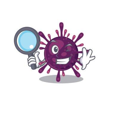 Coronavirus kidney failure in Smart Detective picture character design