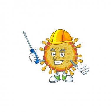 cool automotive cartoon character of outbreaks coronavirus