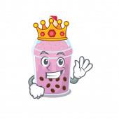 Moudrý král taro bublina čaj maskot design styl