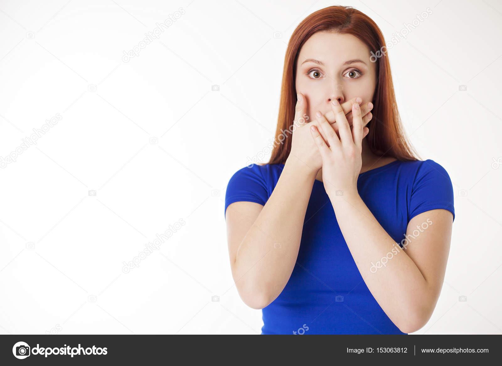 Frau Mund schließen — Stockfoto © saragolfart@gmail.com #153063812