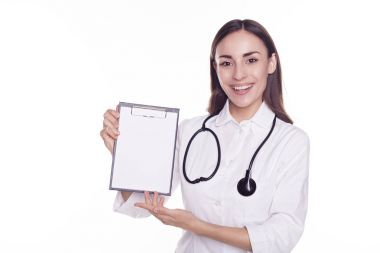 Young doctor with to do list