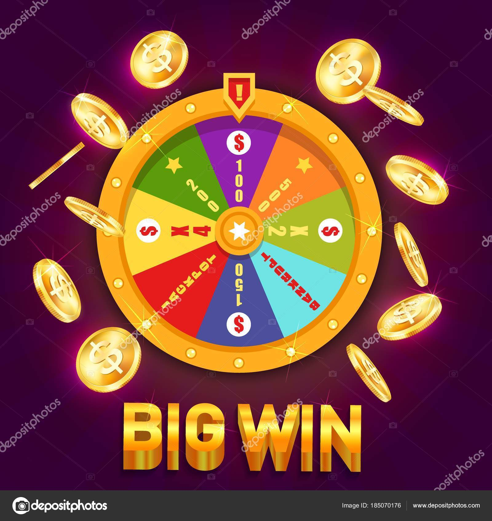 Wheel Of Fortune Or Spinning Wheel For Casino Stock Vector