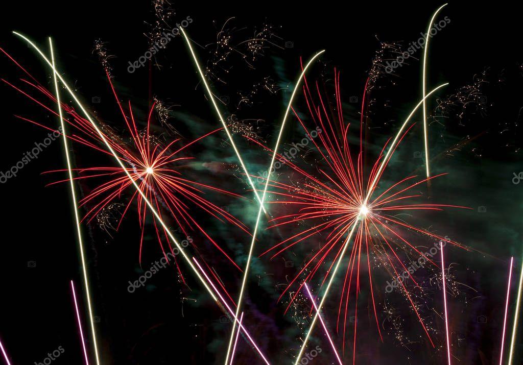 Beautiful fireworks illuminate the sky_10