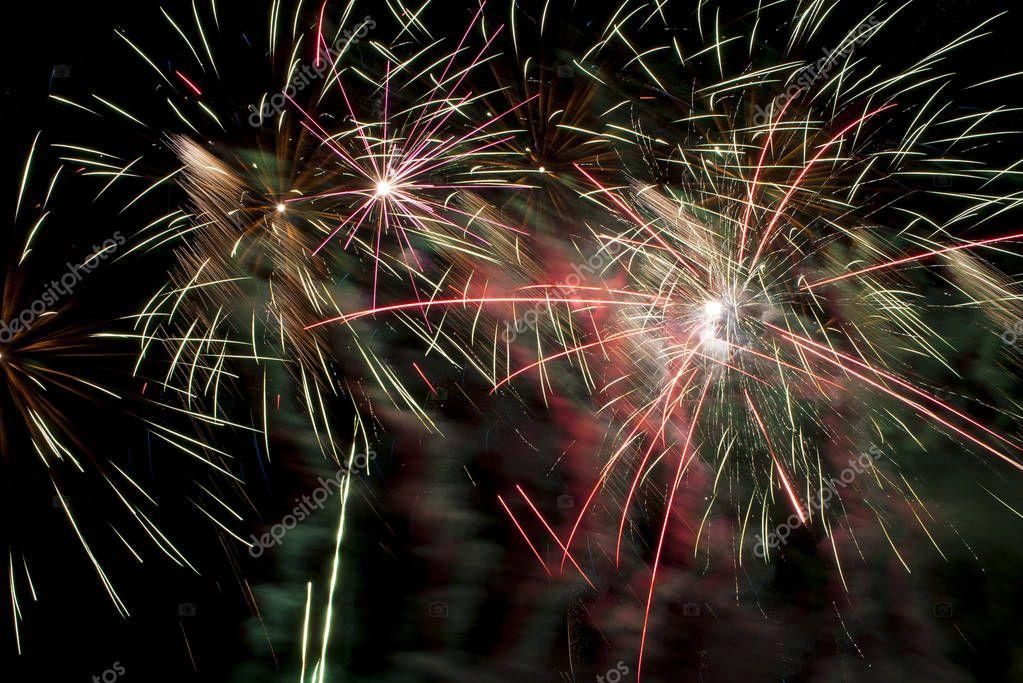 Beautiful fireworks illuminate the sky_14