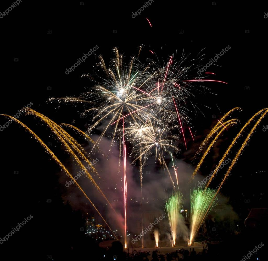 Beautiful fireworks illuminate the sky_26