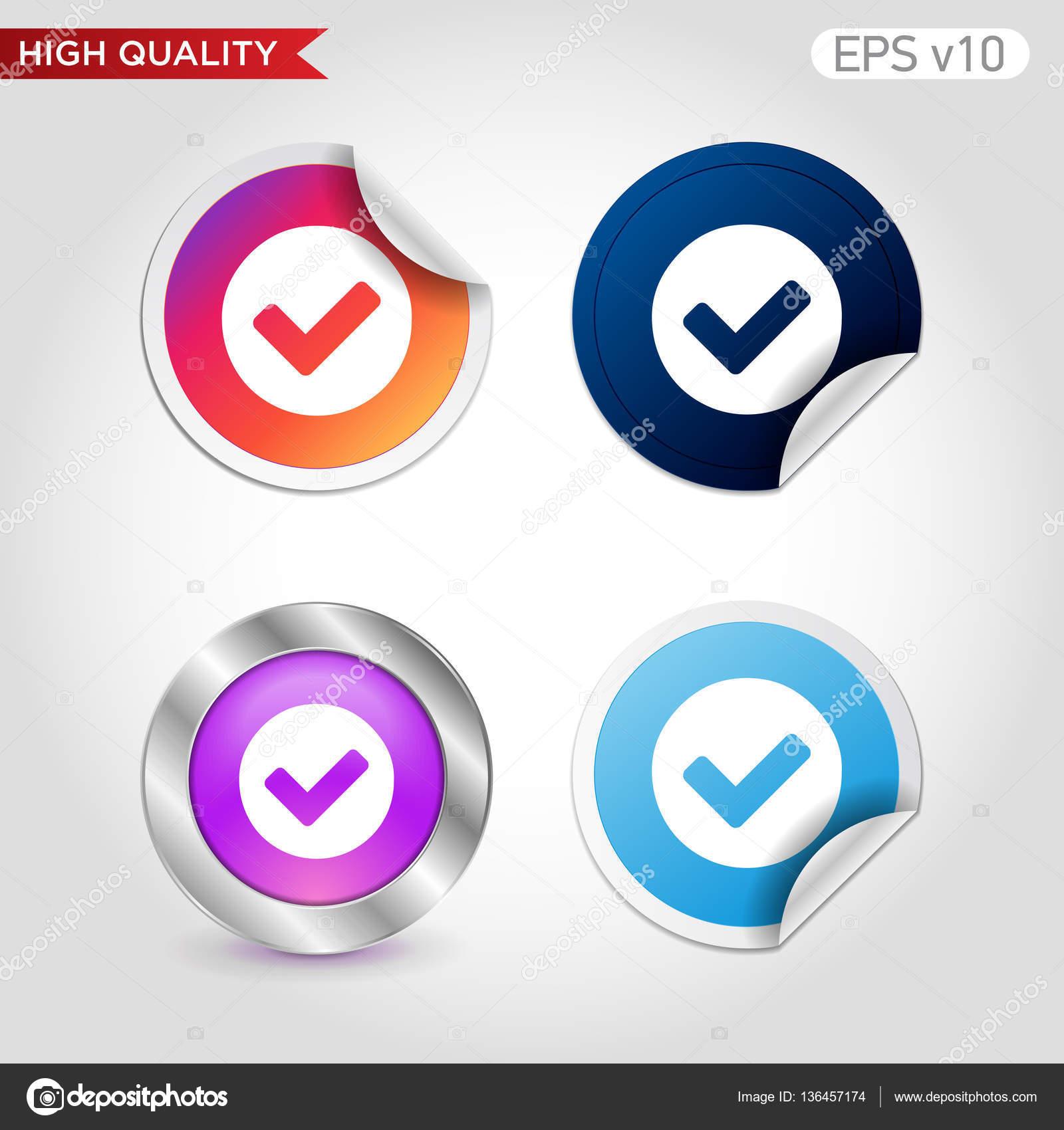 Icono del símbolo de verificación — Vector de stock © M_Studio ...