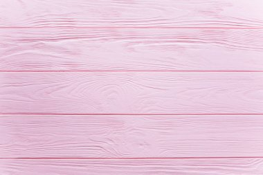 pink wooden table