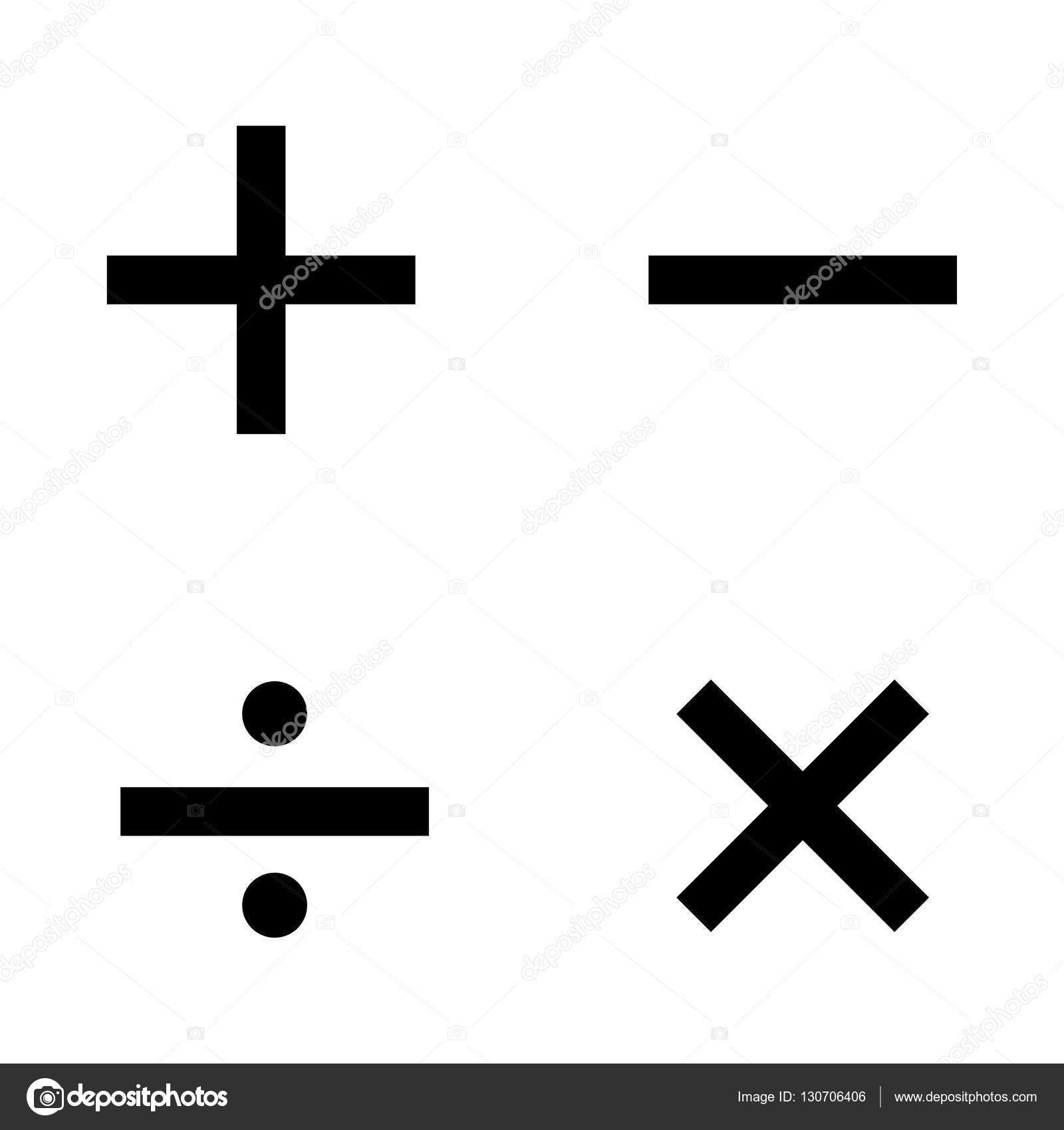 Basic mathematical symbols on white background stock vector basic mathematical symbols on white background stock vector biocorpaavc Gallery