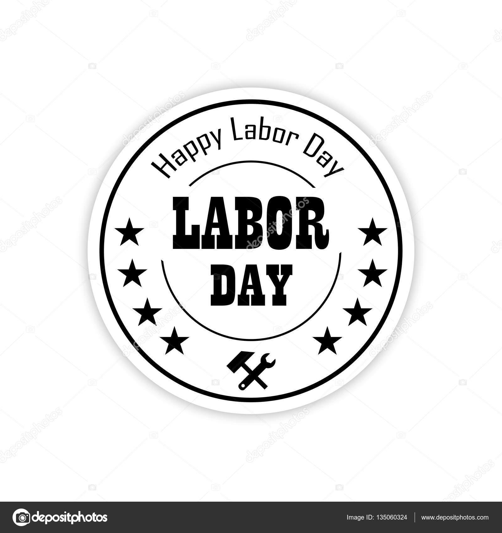Labor day black and white clipart - Clipartix