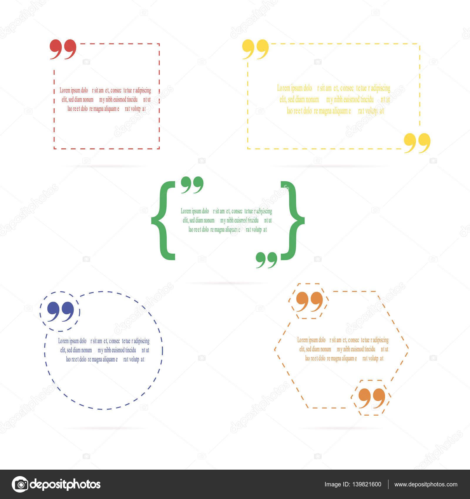 Zitat der leeren Vorlage. Rahmen, Halterung — Stockvektor ...