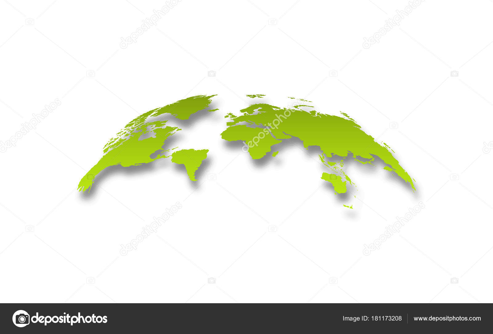 3d realistic world map globe with shadow in gradient green stock 3d realistic world map globe with shadow in gradient green stock vector gumiabroncs Choice Image