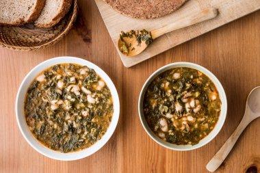 Turkish Kara Lahana corbasi / Black Cabbage or Kale Soup