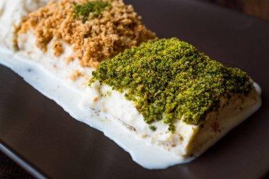 Turkish Milk Dessert Sutlava made with Gullac and Dairy Baklava