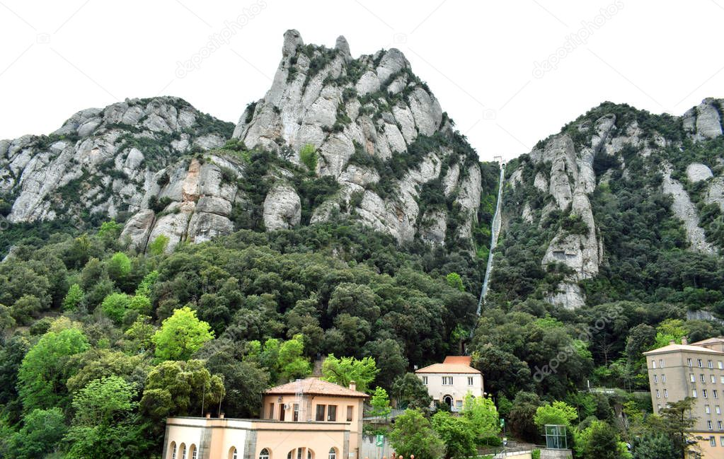 Montserrat rocky mountain, Virgin de montserrat
