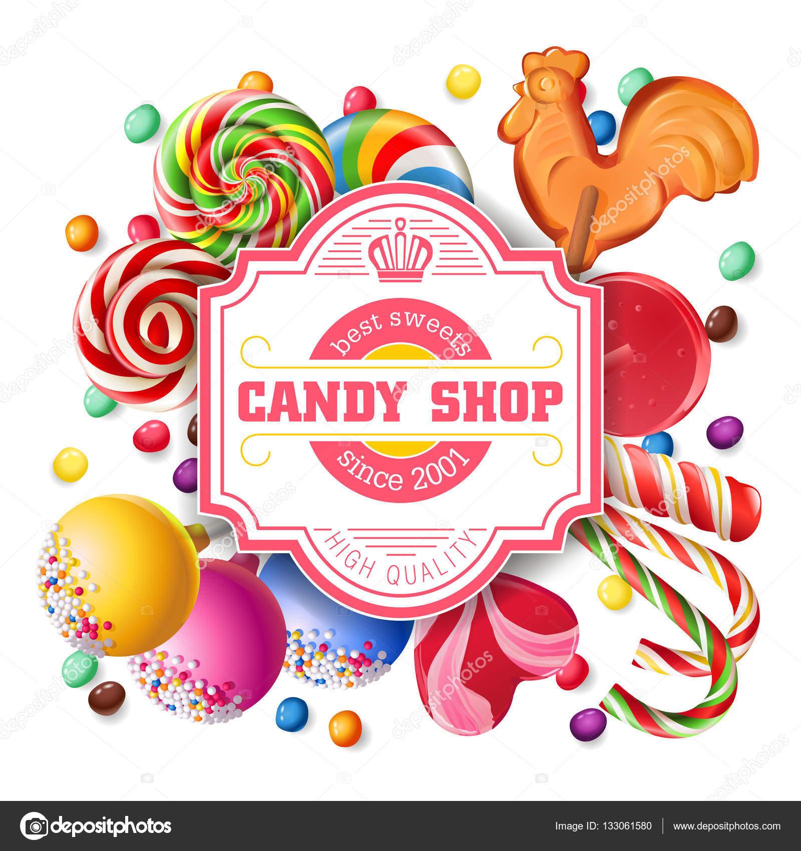 Fondo de ilustración de vector de dulces — Vector de stock ...