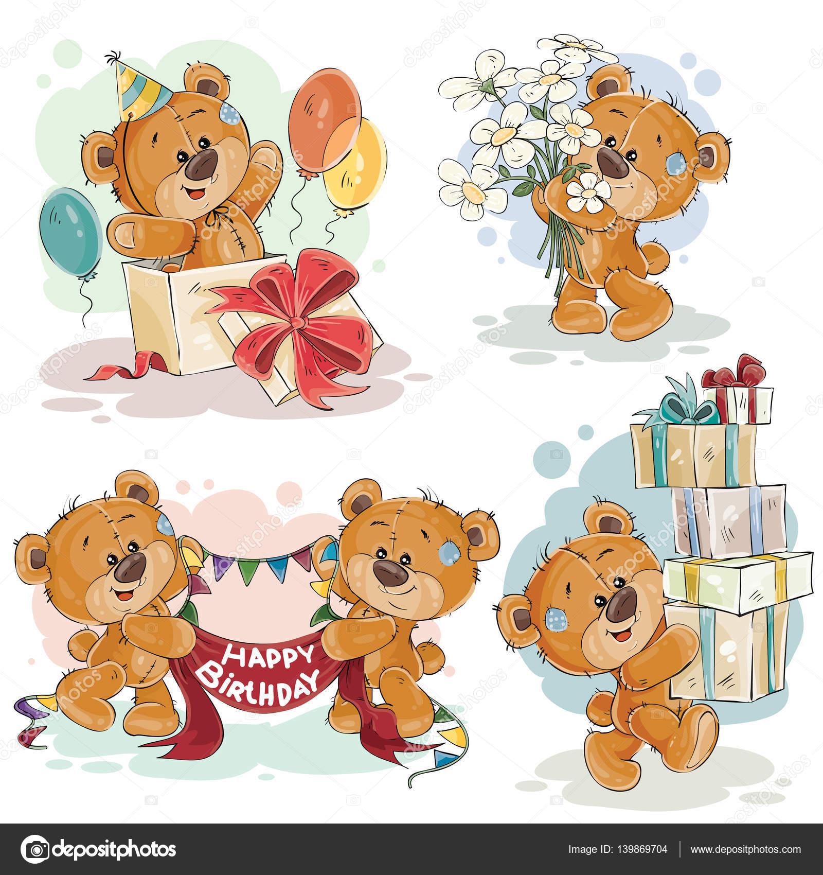 Clip Art Illustrations De Nounours Vous Souhaite Un Joyeux