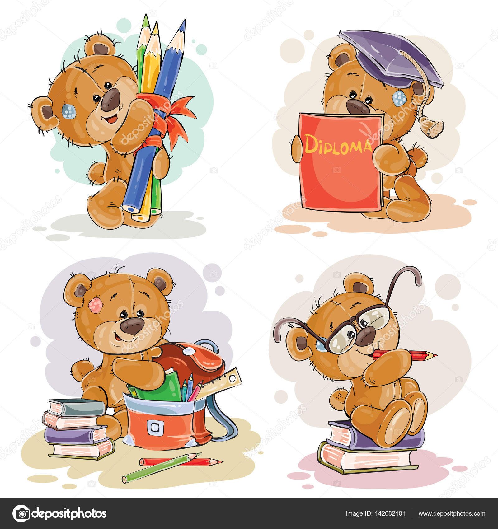 Funny illustrations for greeting cards and childrens books on the funny illustrations for greeting cards and childrens books on the topic of school and university education kristyandbryce Gallery