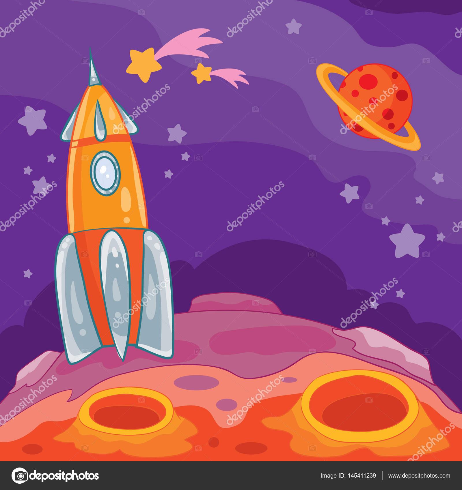 Illustration De Dessin Anime Vectorielle D Une Planete Inconnue