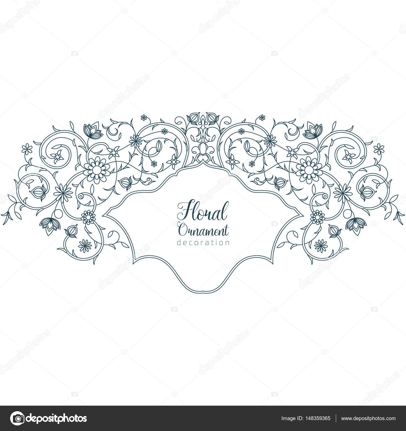 Vintage Vector Floral Ornament Fur Einladungen Zur Hochzeit