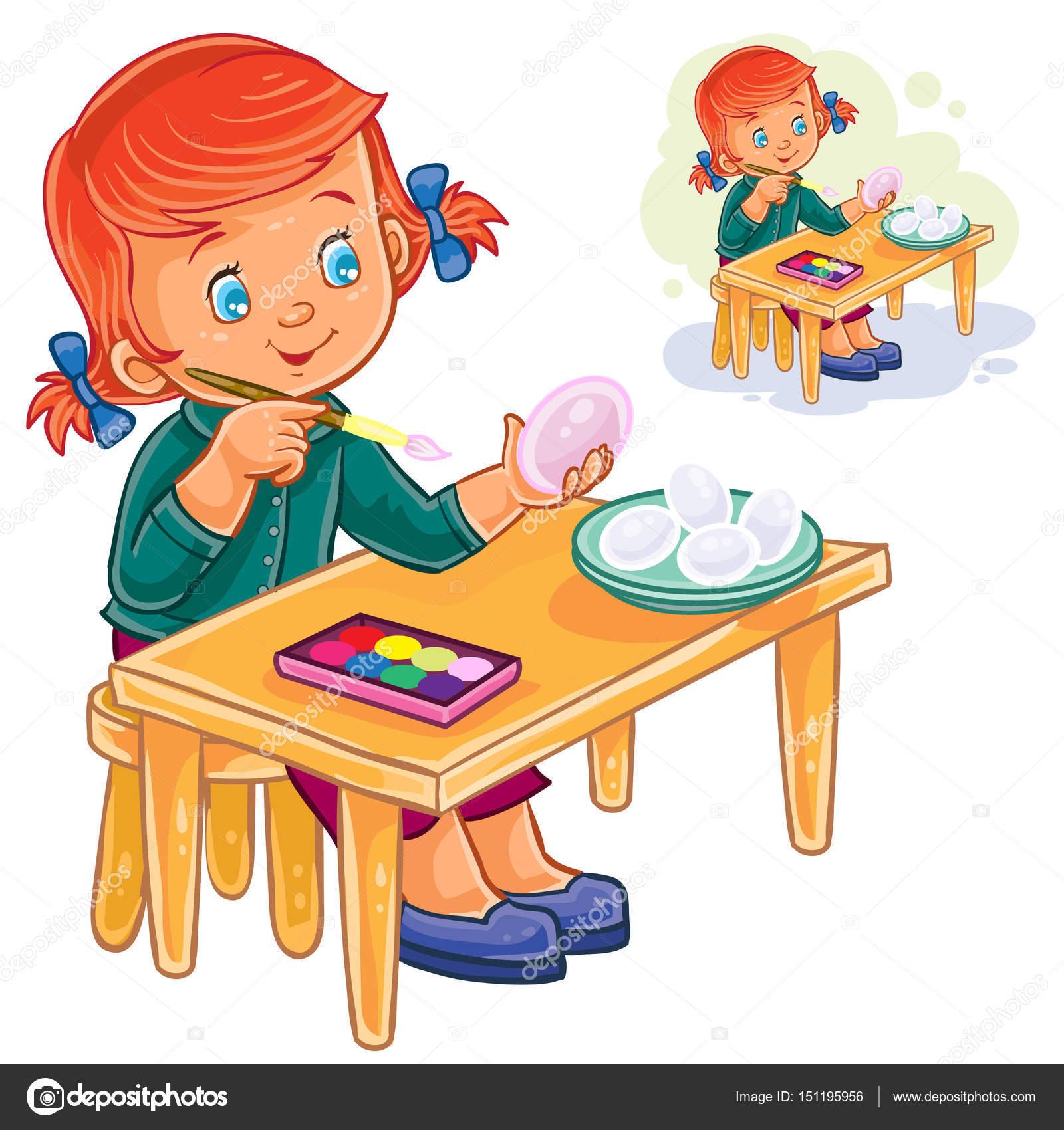 Imágenes Niños Jugando A Color Para Imprimir Vector De