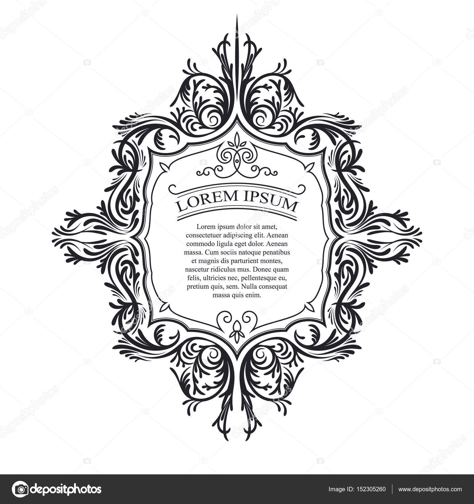 Vektor-Illustration der Vintage Ornament, Rahmen — Stockvektor ...