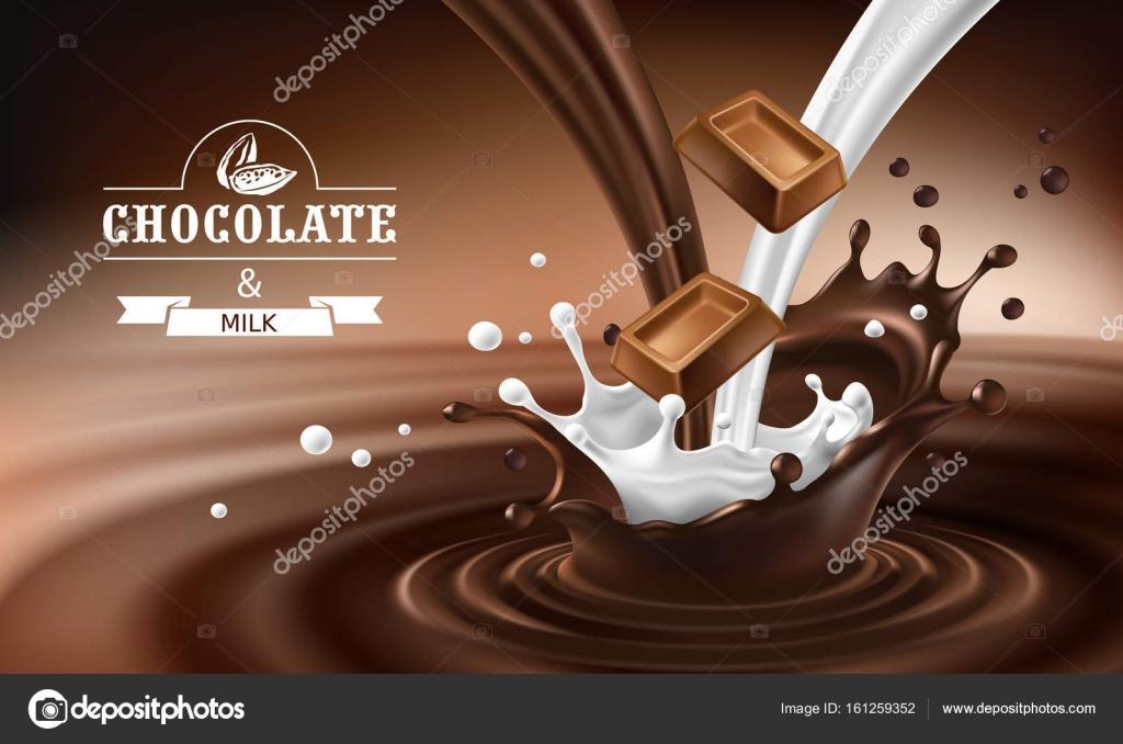taches de chocolat fondu avec des barres de chocolat. Black Bedroom Furniture Sets. Home Design Ideas