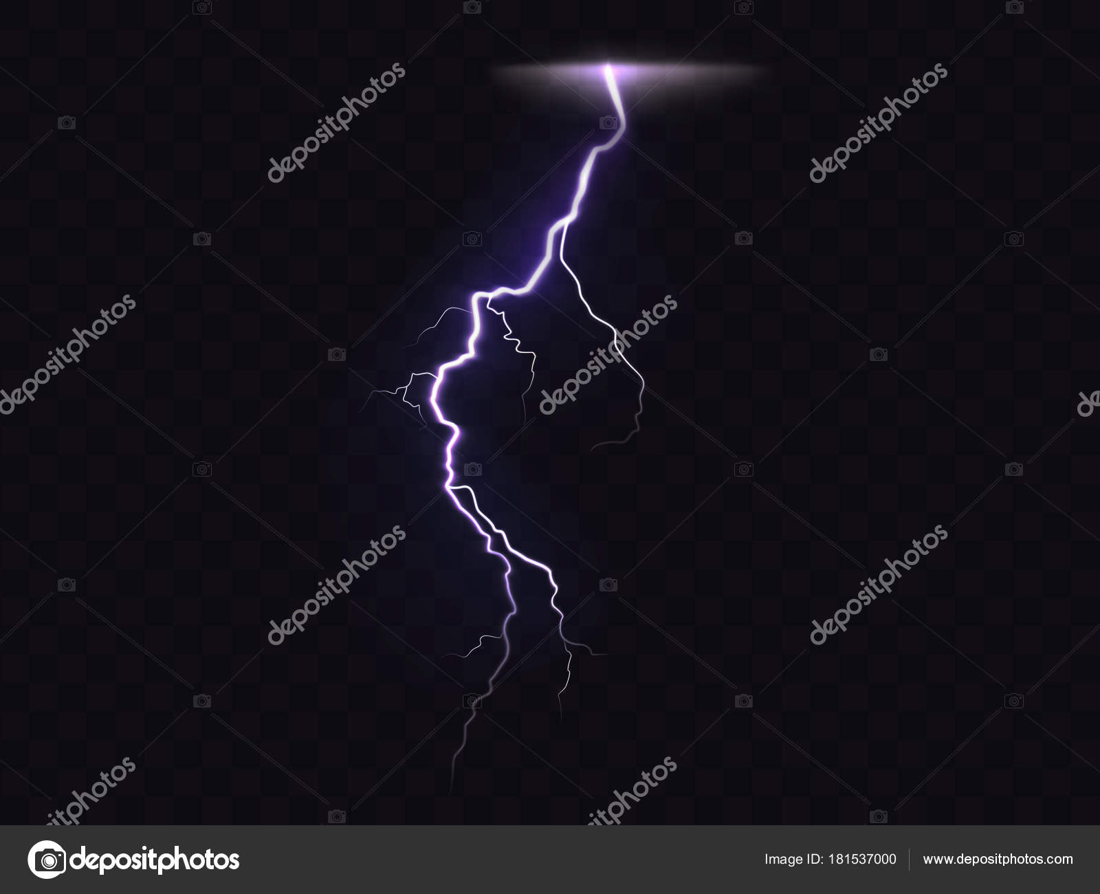 3D Vector Realistic Illustration Of Lightning Stock Vector