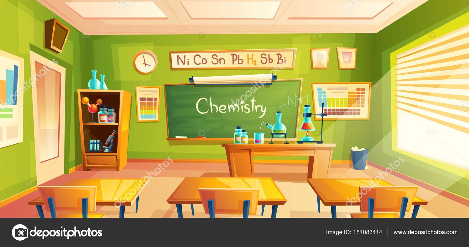Laboratorio De La Escuela De Vectores Interior Del Sal N De  # Muebles Educativos