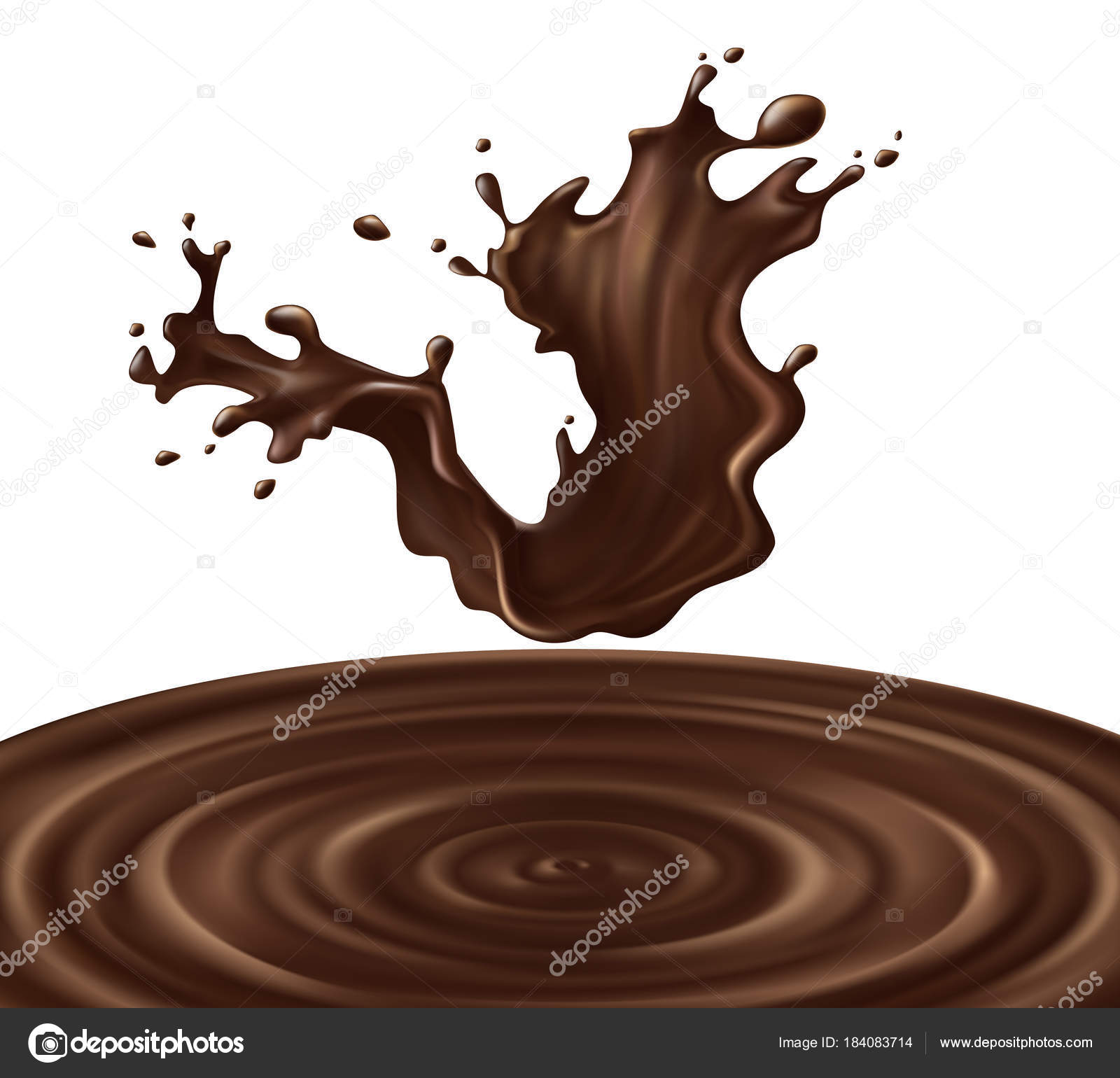 3d realistic chocolate splash vector illustration stock vector c vectorpocket 184083714 https depositphotos com 184083714 stock illustration 3d realistic chocolate splash vector html