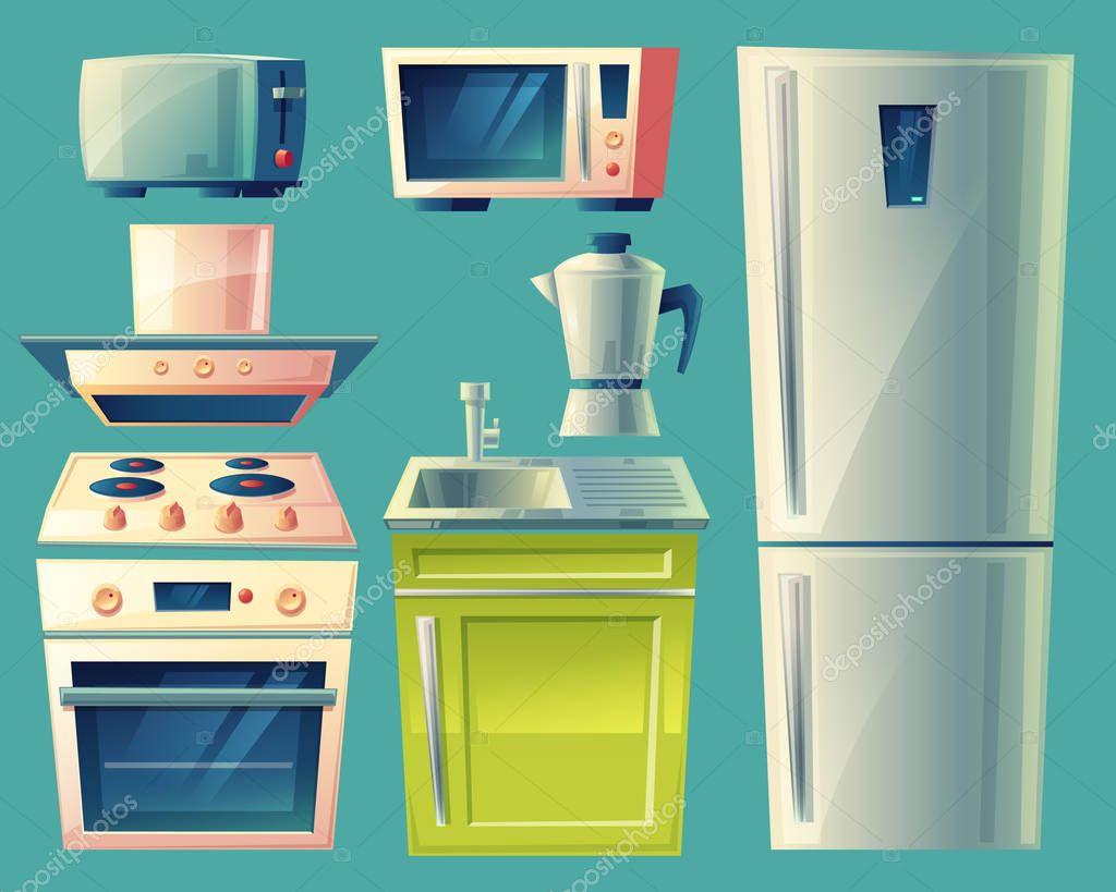 Im genes cocinas animadas vector de dibujos animados - Cocina dibujo ...