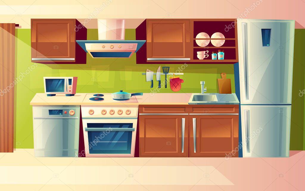 Imágenes: cocina vectorizada   Dibujos animados de vector