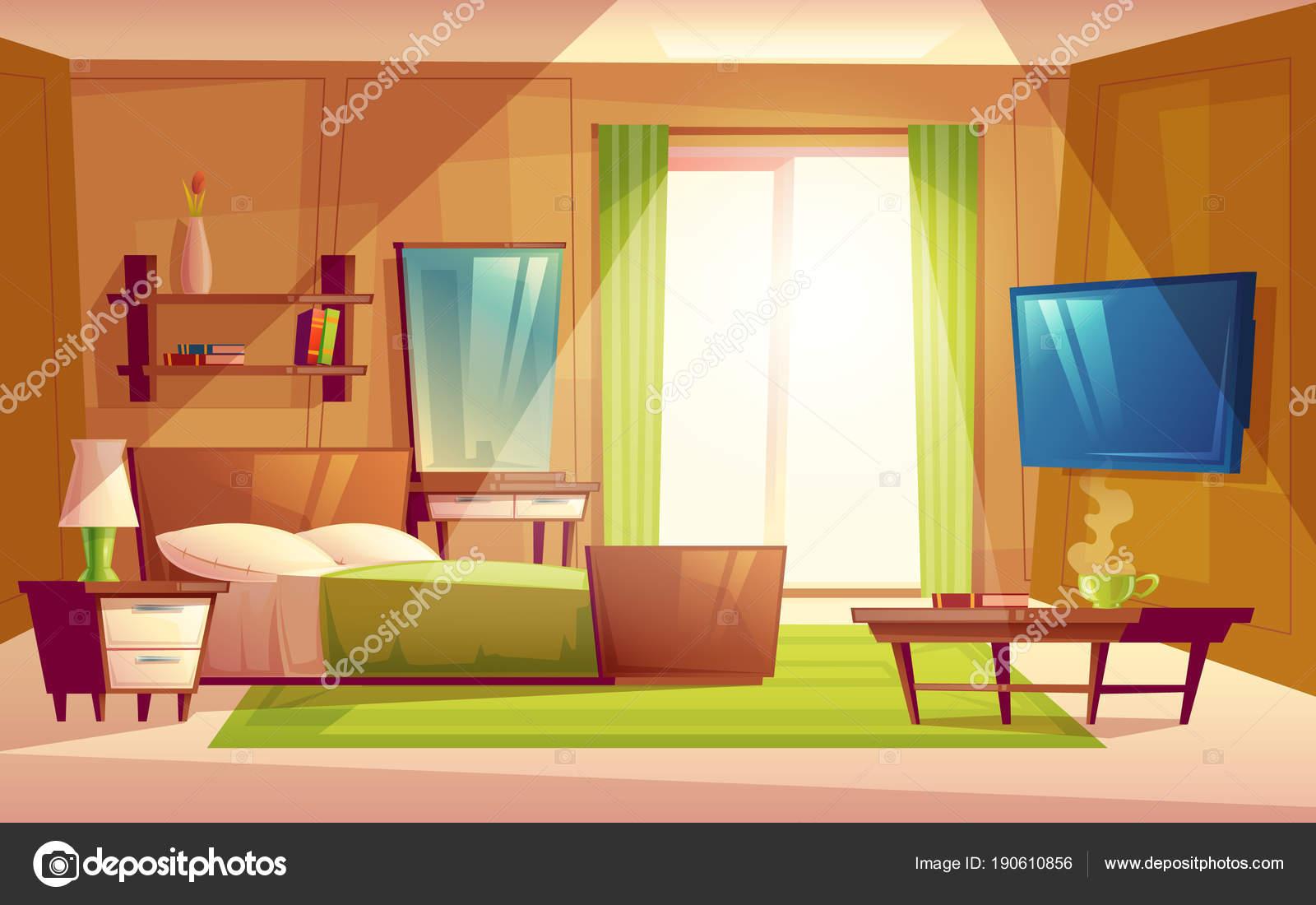 Animated: living room | Vector Cartoon Interior Cozy ...