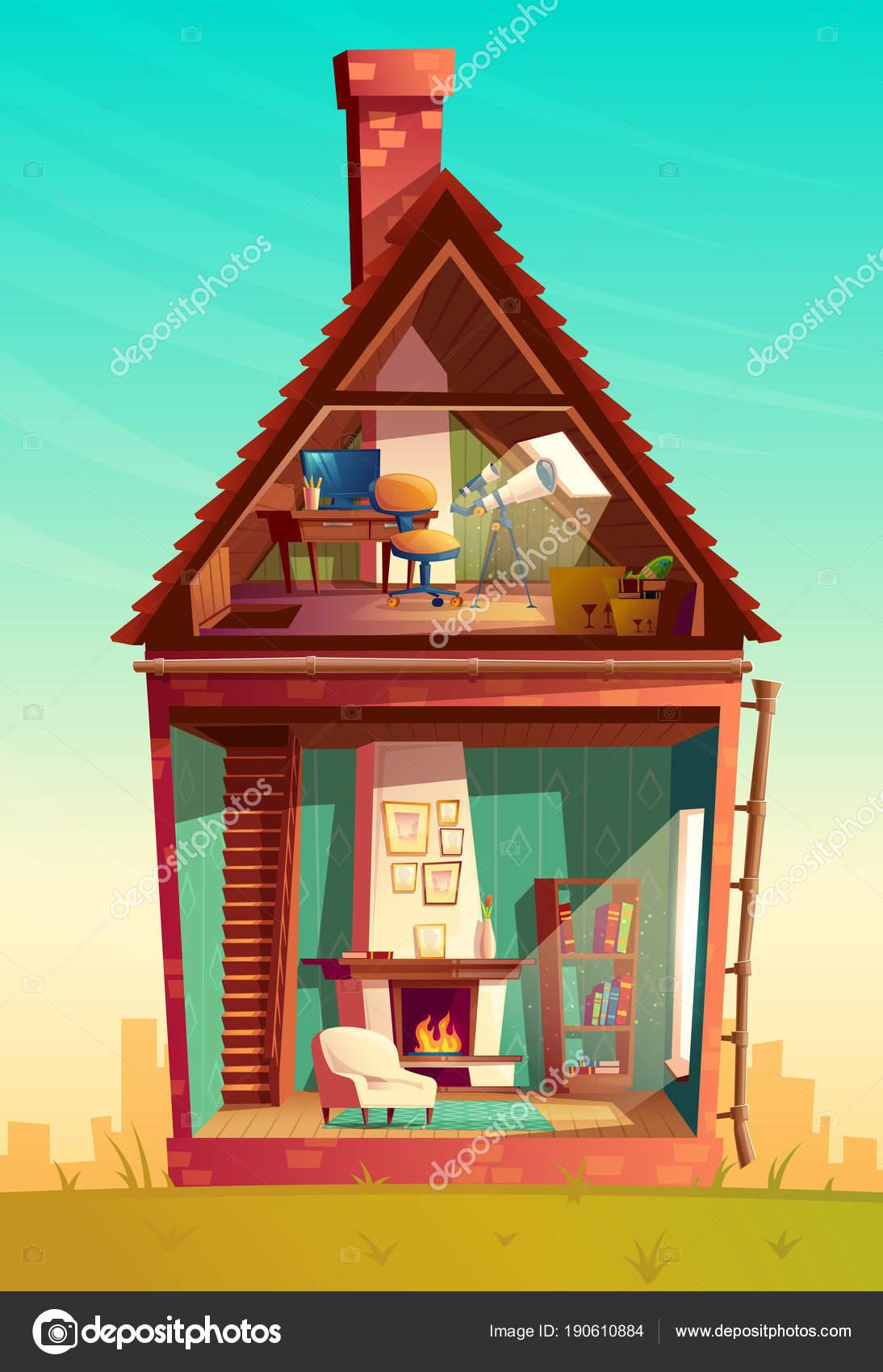 Imágenes Casa Por Dentro Animadas Interior Casa Vector Sección