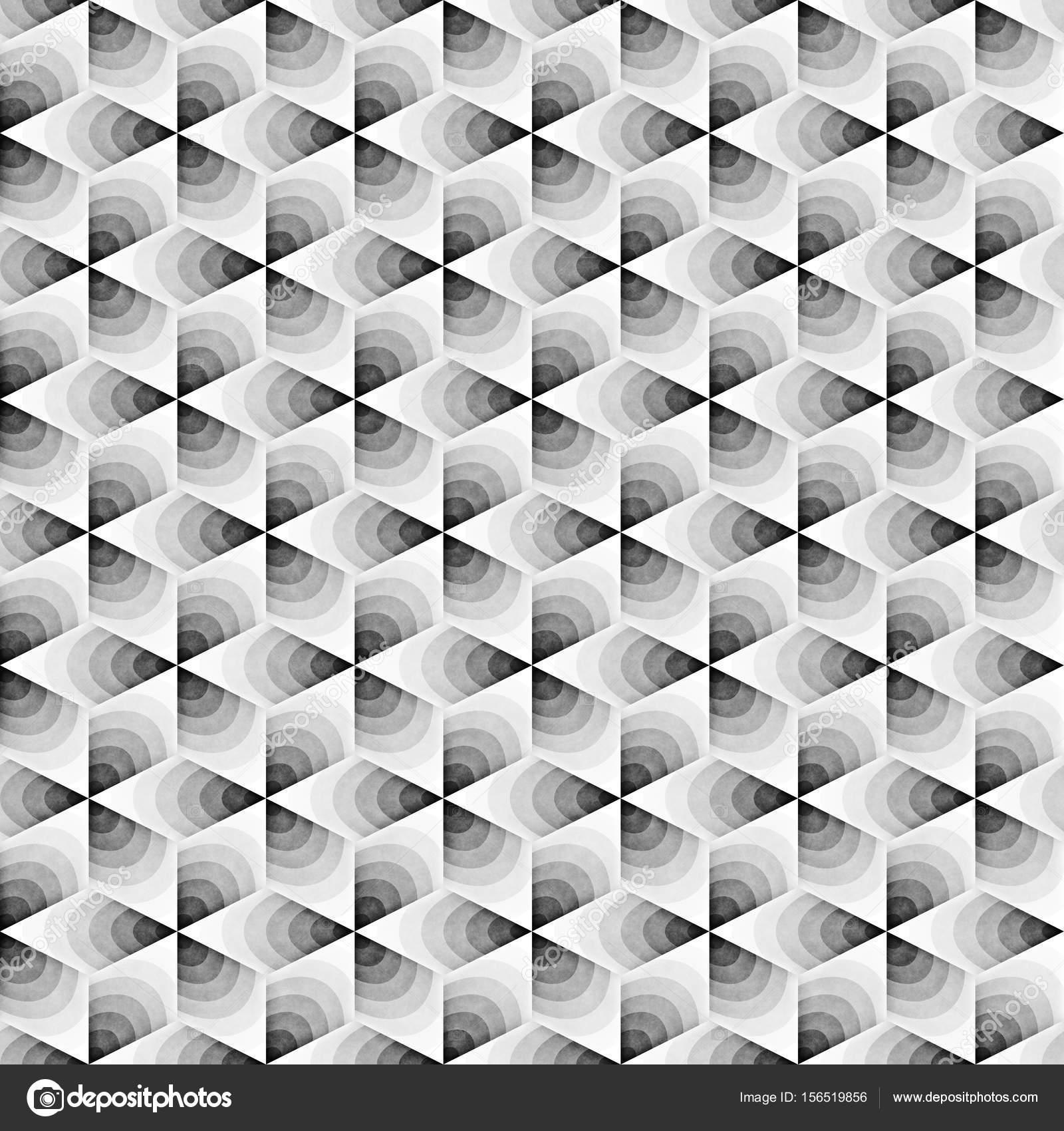 Nahtloses monochromes Muster Grungy geometrischen Formen