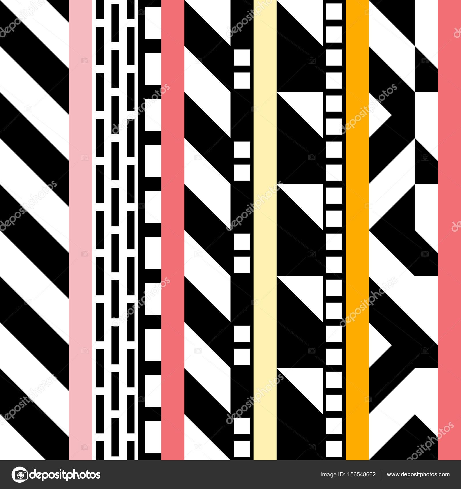56b843f87c8d4 Retro kolor jednolity wzór. Fantazyjne Abstrakcja geometryczna sztuki  wydruku. Etniczne hipster ozdobne linie tło