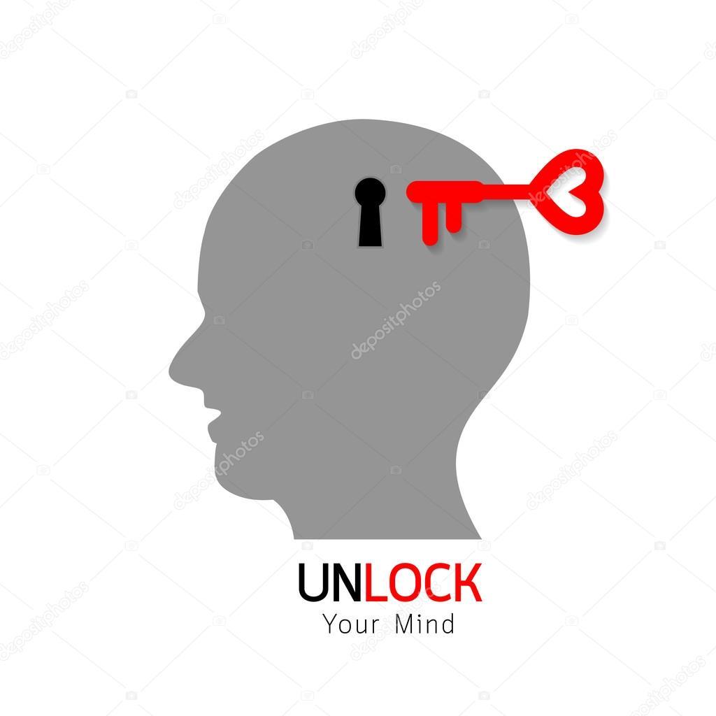 Llave y cerradura en la cabeza — Vector de stock © wowow #128085180
